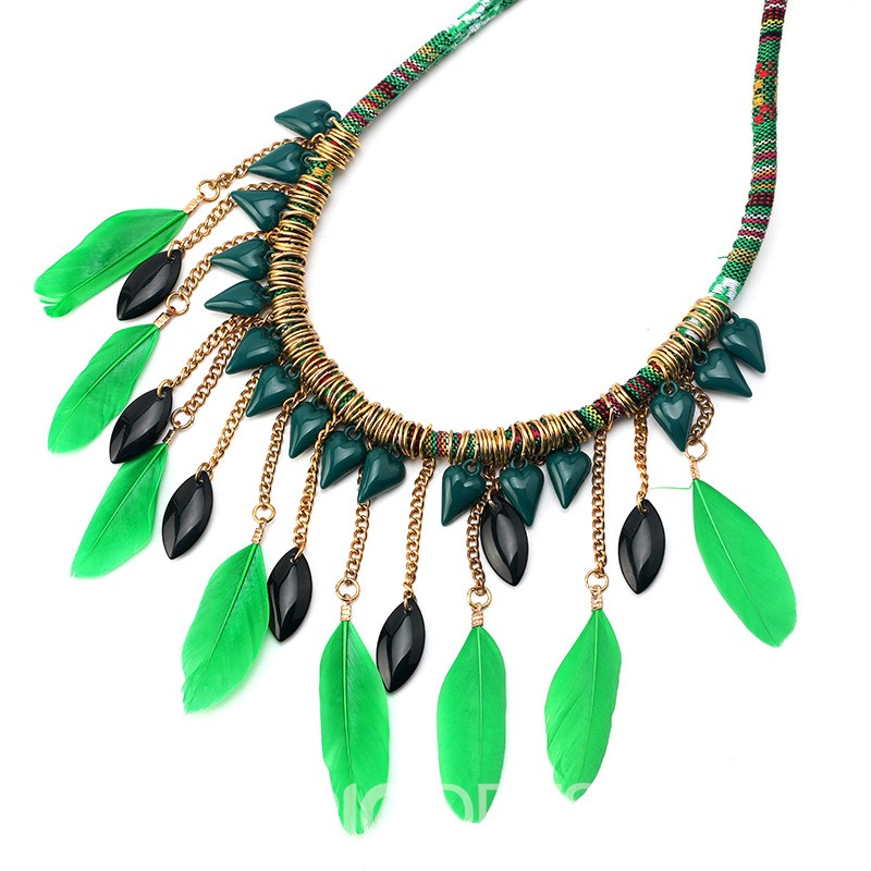 Ericdress Ethnic Leaf Green Necklaces
