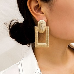 Ericdress Hollow Out Plain Alloy Earrings фото
