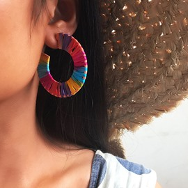 Ericdress Woven Women Hoop Earrings
