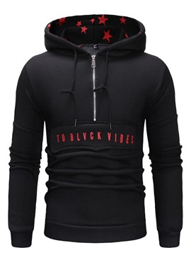 ericdress lettre fermeture éclair pull pull mince hoodies