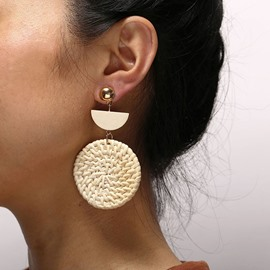 Ericdress Plain Vintage Round Earrings