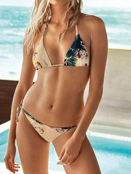 Ericdress Lace-Up Print Beach Look Sexy Swimsuit
