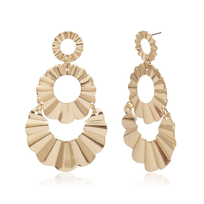 Ericdress Golden Plain Alloy Earrings