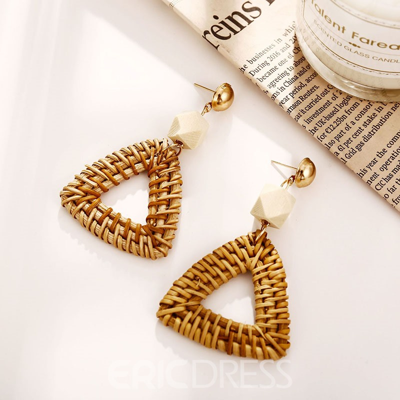 Ericdress Woven Vintage Knit Earrings