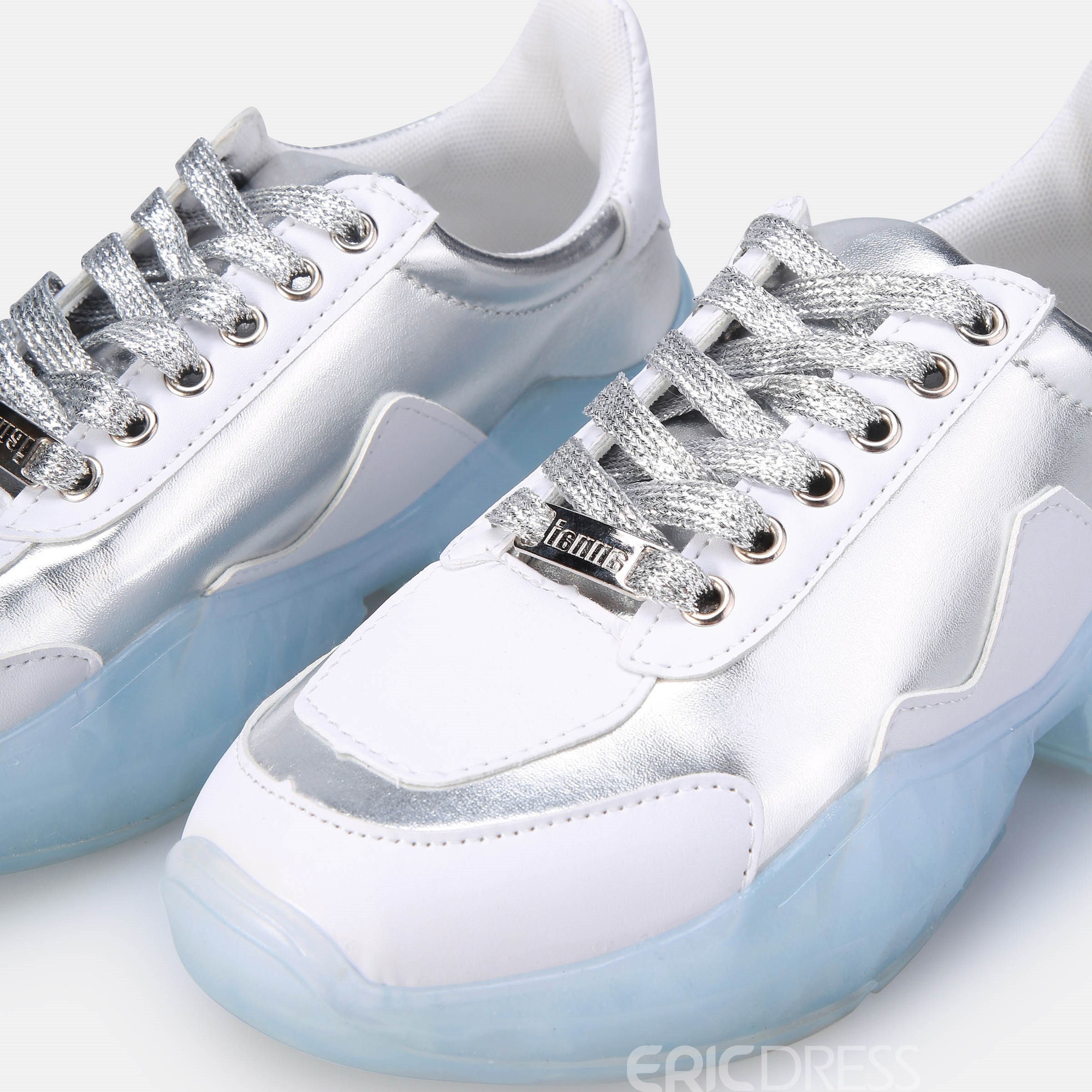 Ericdress Rhinestone Round Toe Lace-Up Women's Sneakers