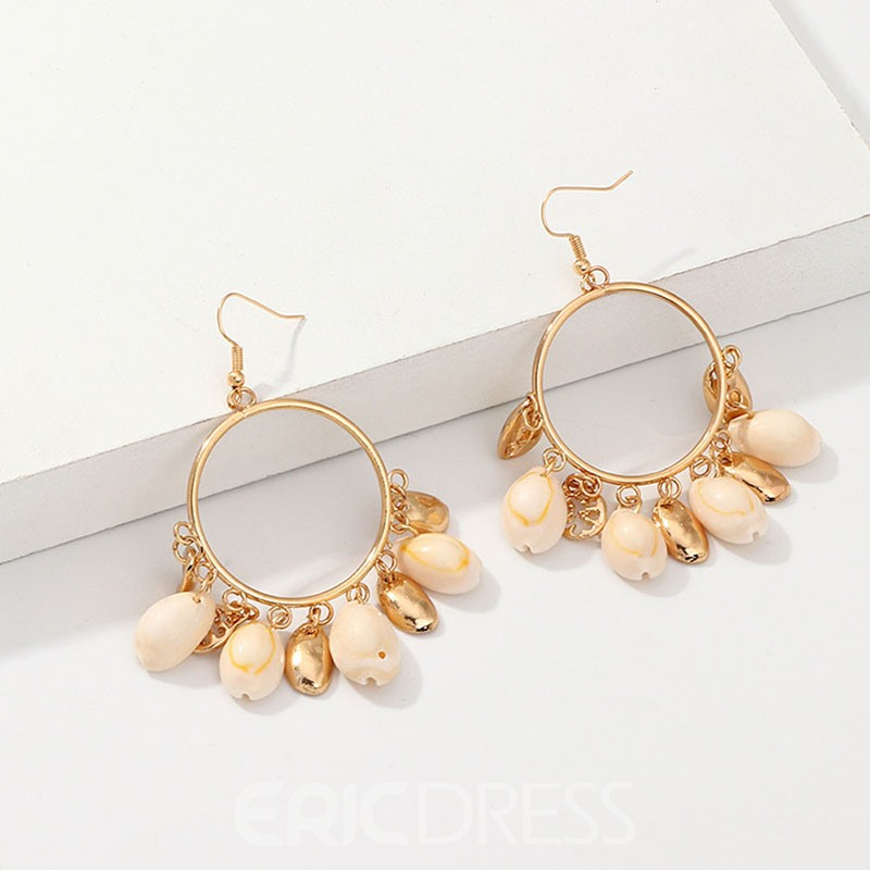 Ericdress Conch Alloy Hoop Earrings