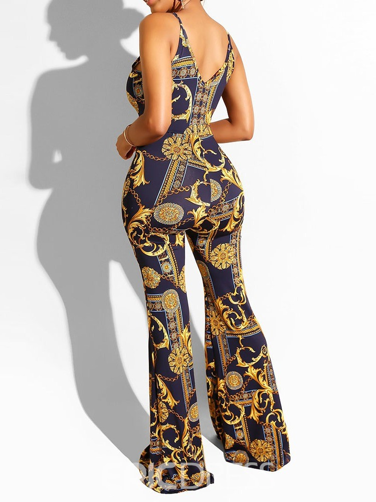 ericdress sangle fashion toute la longueur lâche combinaison bellbottoms