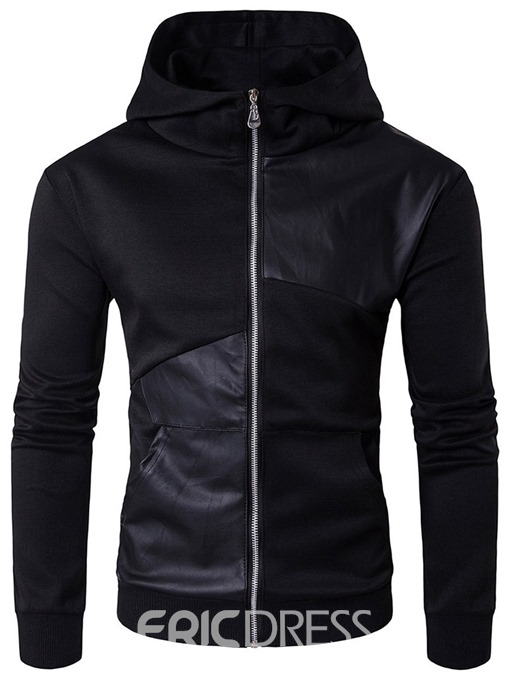 Ericdress Plain Pocket Thin Men's Zipper Hoodies