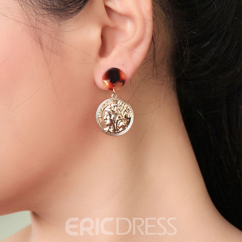 Ericdress Round Figure Alloy Earrings