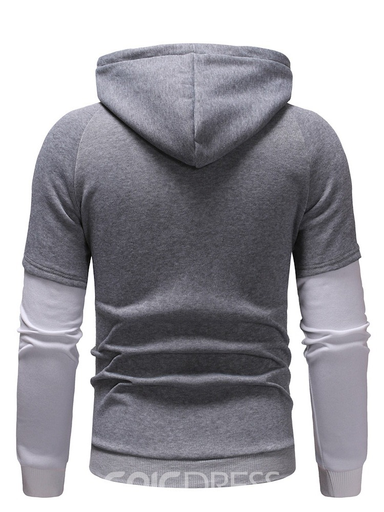 Ericdress Thread Color Block Men's Pullover Hoodies
