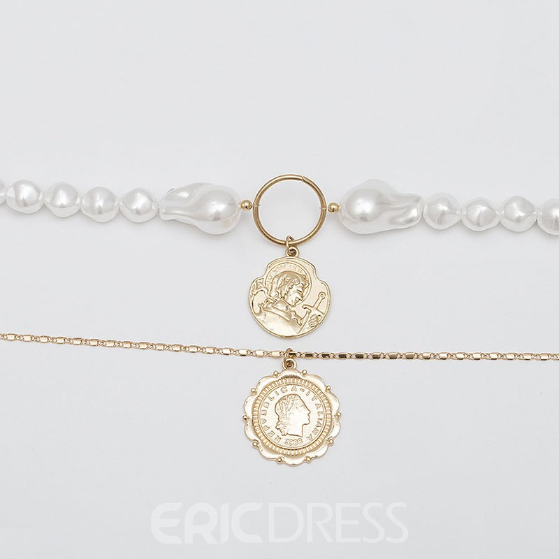 Ericdress Vintage Pearl Female Necklace