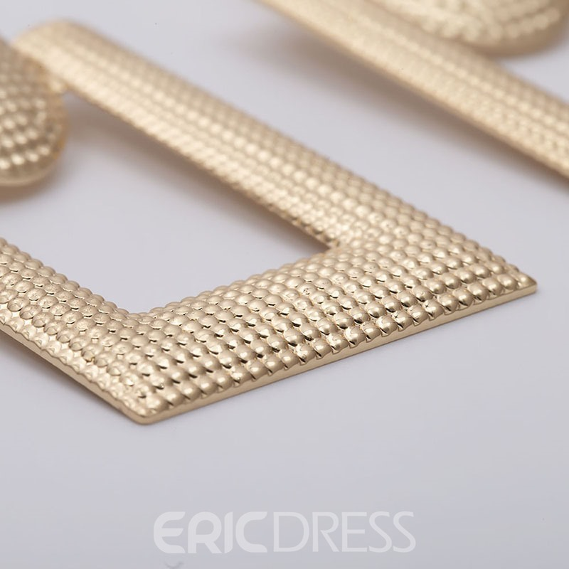 Ericdress Hollow Out Plain Alloy Earrings