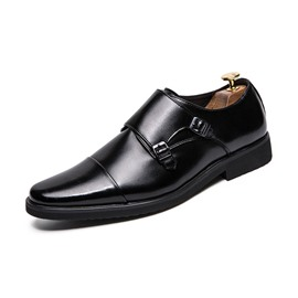 Ericdress PU Color Block Slip-On Round Toe Men's Dress Shoes