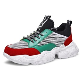 Ericdress Mesh Letter Patchwork Lace-Up Men's Athletic Shoes