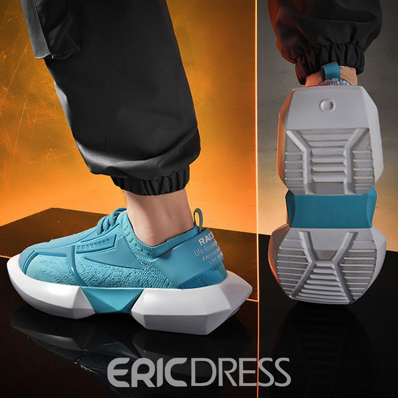 Ericdress Round Toe Low-Cut Upper Lace-Up Men's Mesh Sneakers