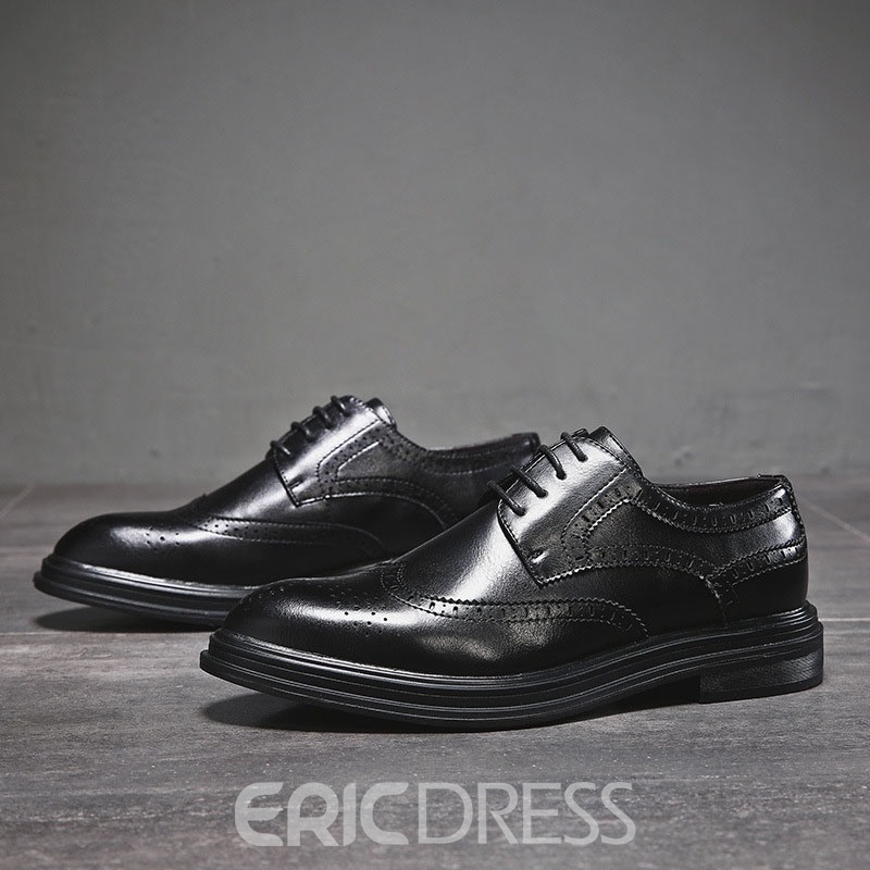 Ericdress Plain England Low-Cut Upper Lace-Up Men's Oxfords