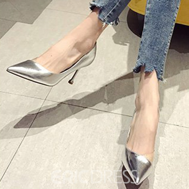 Ericdress PU Slip-On Pointed Toe Stiletto Heel Women's Pumps