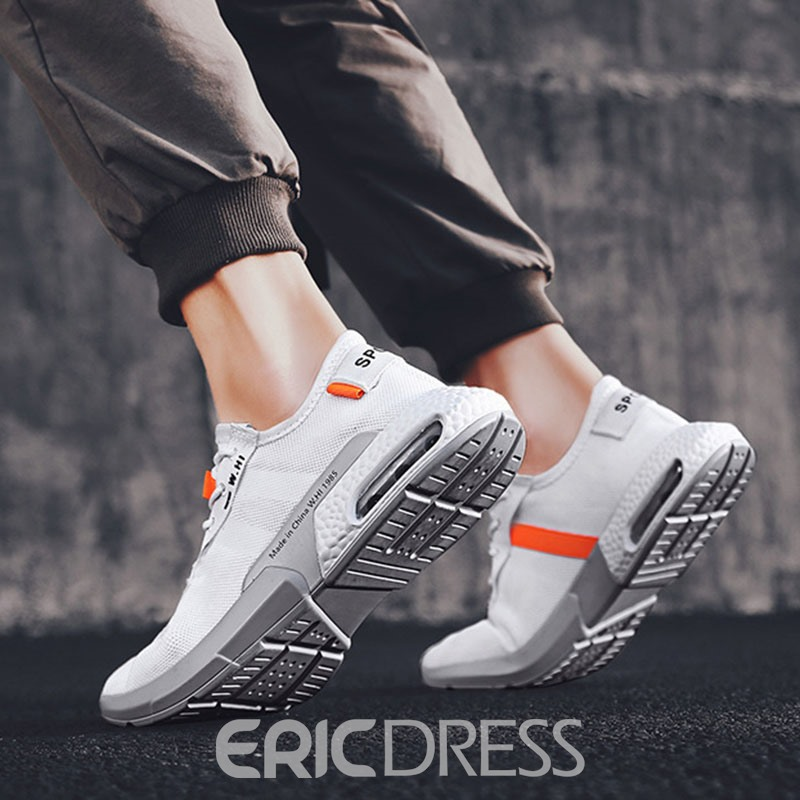 Ericdress Color Block Round Toe Lace-Up Men's Outdoor Sneakers