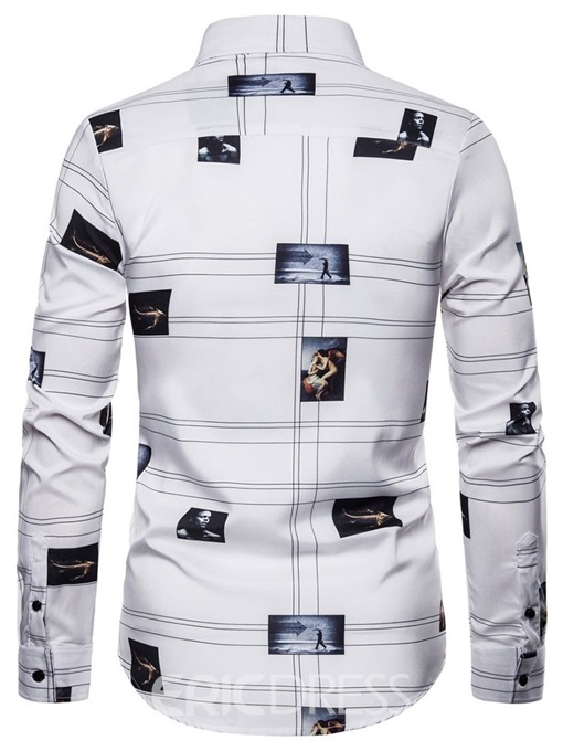 Ericdress Button Lapel Fashion Men's Single-Breasted Shirt