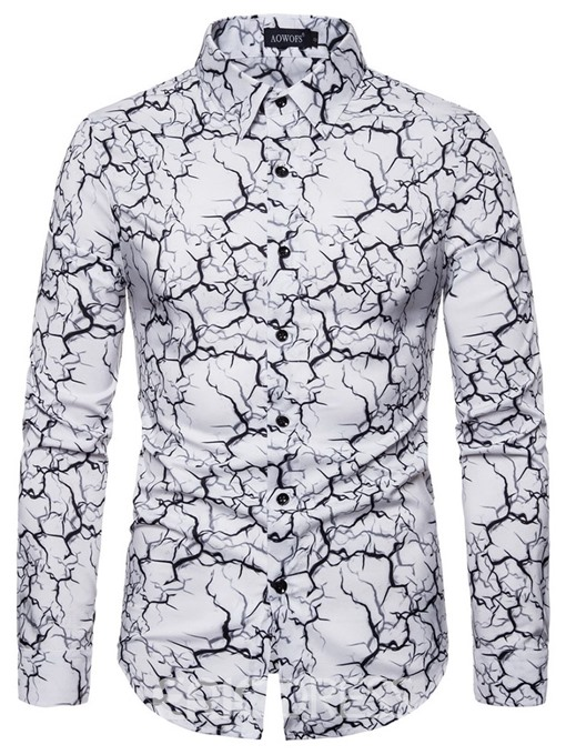 Ericdress Fashion Button Color Block Men's Single-Breasted Shirt