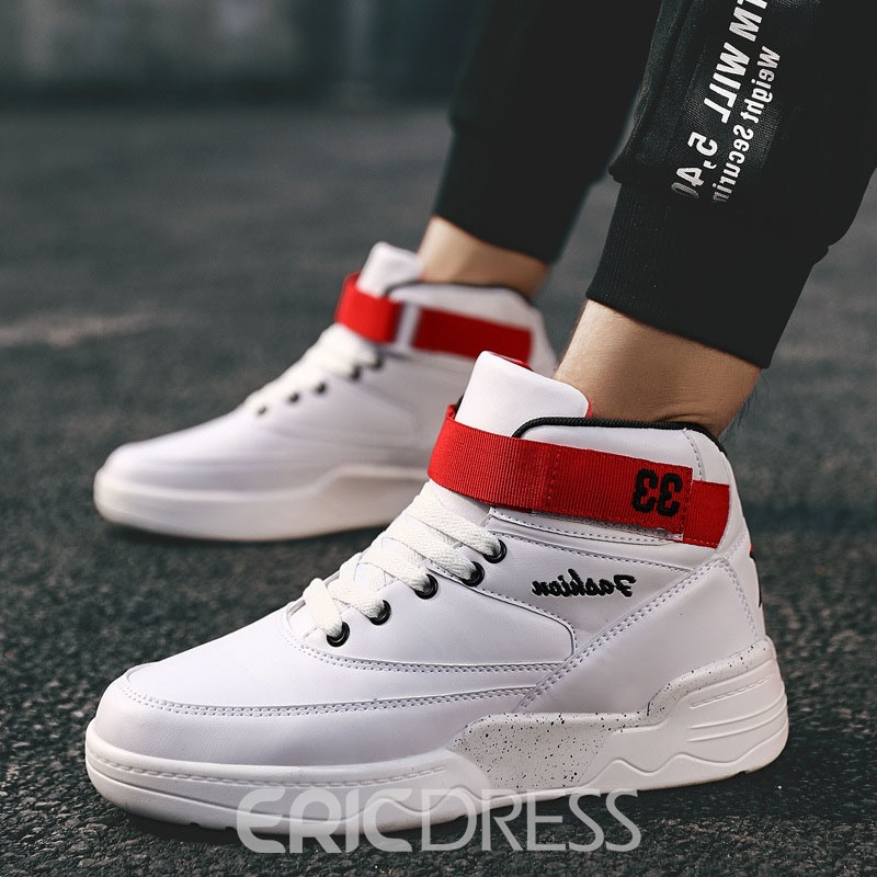 Ericdress Velcro Simple High-Cut Upper Lace-Up Men's Sneakers