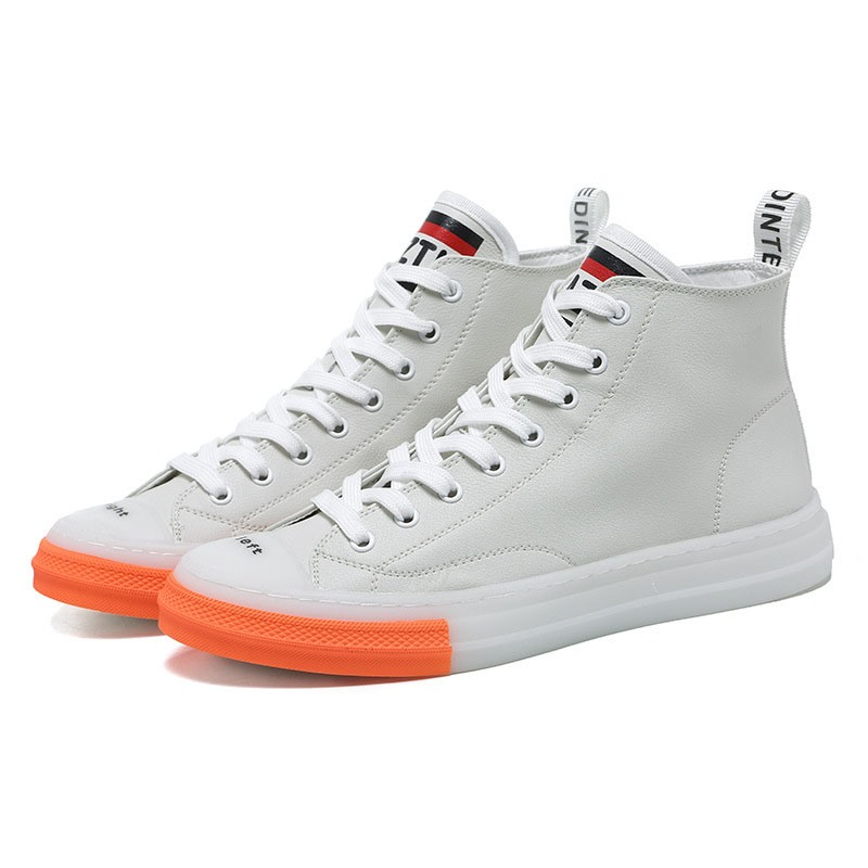 Ericdress Color Block Mid-Cut Upper Lace-Up Round Toe Men's Skate Shoes