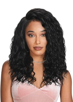 Ericdress 120% Density Women's Long Length Deep Wave 100% Human Hair Lace Front Wigs 20Inches