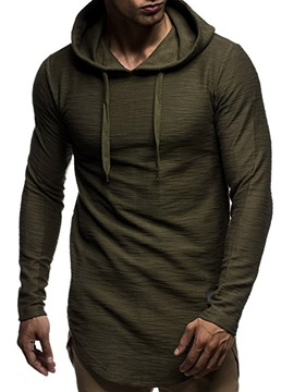 ericdress pullover mit einfarbiger kapuze casual hoodies