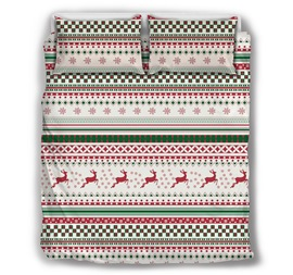 Ericdress Cotton Christmas Comforter Set Hand Wash Three-Piece Set