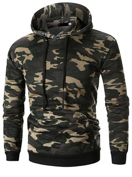 Ericdress Camouflage Pullover Pocket Men's Casual Hoodies