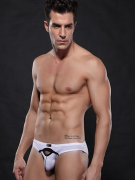Ericdress Plain Nylon Hollow Men's Brief