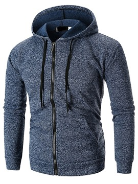 Ericdress Zipper Plain Cardigan Men's Casual Hoodies