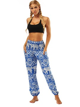 Ericdress Animal Print Wide Leg Belly Dance Lantern Pants
