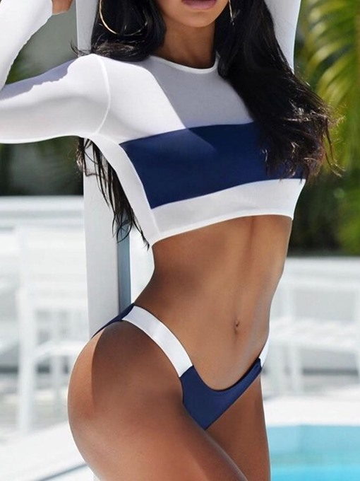 Ericdress Color Block Tankini Set Stretchy Sexy Swimsuit