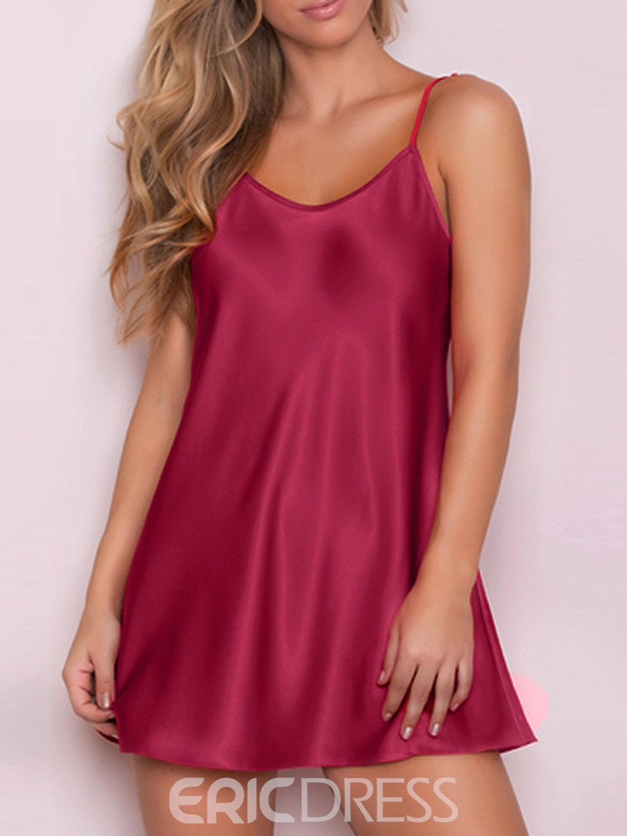 Ericdress Plus Size Plain Single Backless Sexy Women's Nightgown