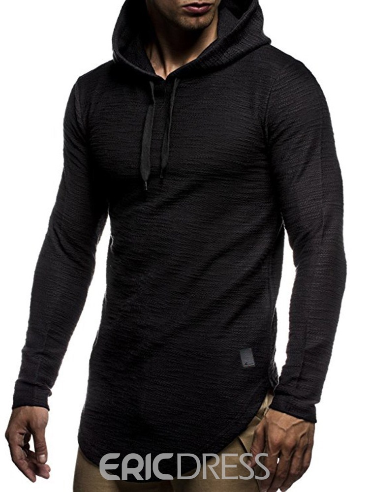 Ericdress Pullover Plain Men's Casual Hoodies