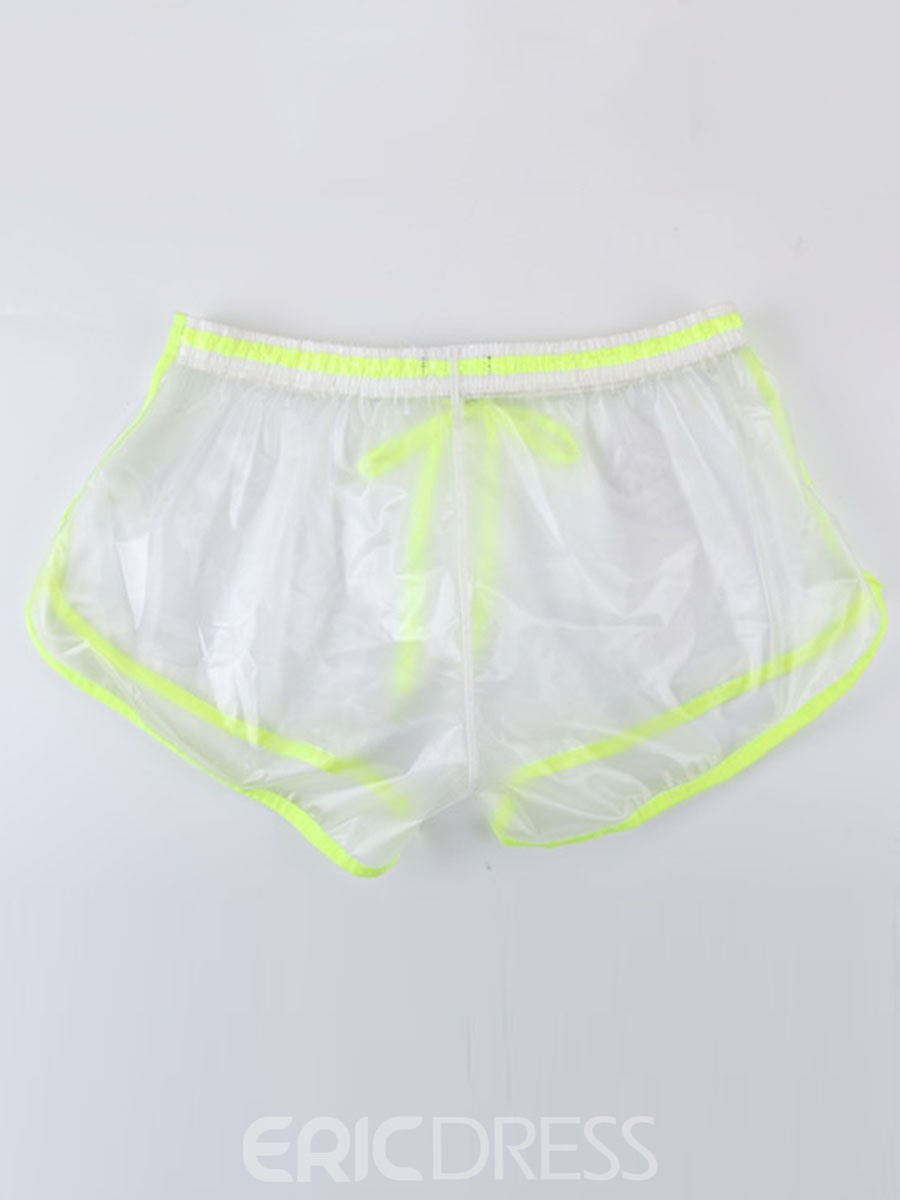 Ericdress Men's PVC Transparent Sexy Shorts