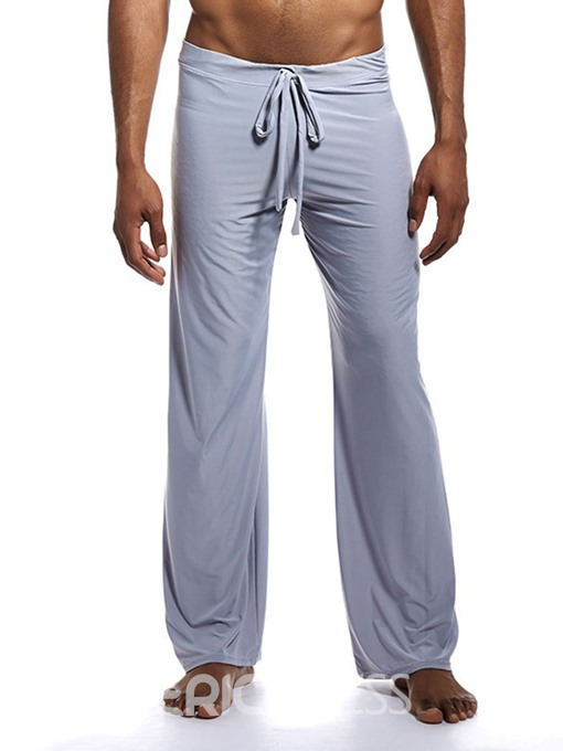 Ericdress Straight Plain Full Length Men's Sleep Pants