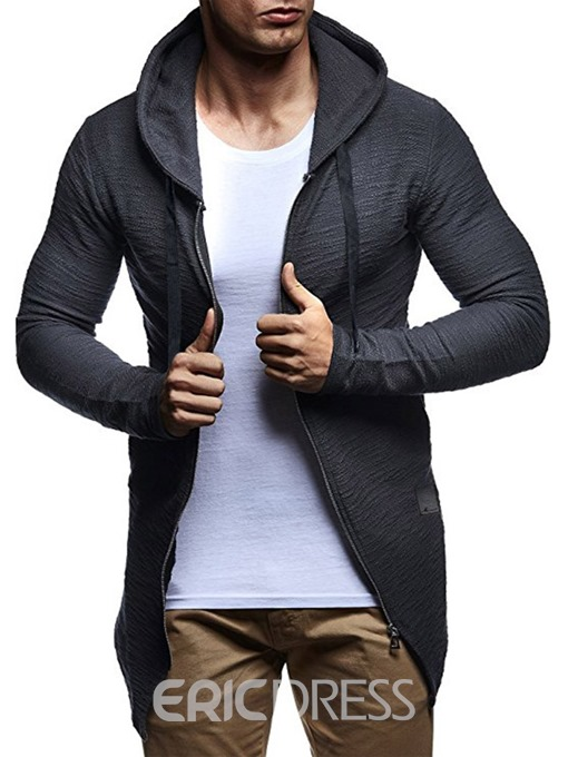 Ericdress Cardigan Color Block Men's Zipper Hoodies