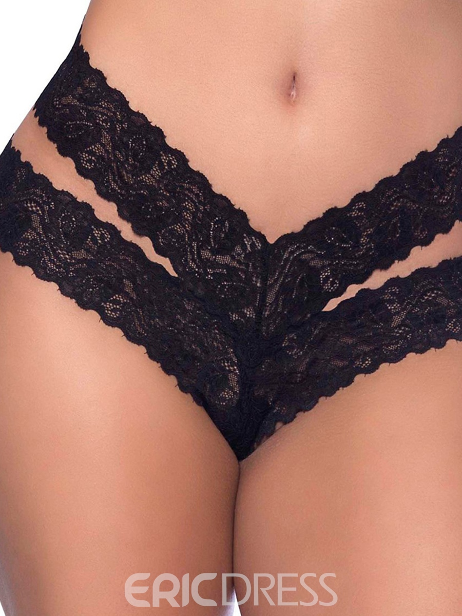 Ericdress Bowknot Lace Plain Lace G-String