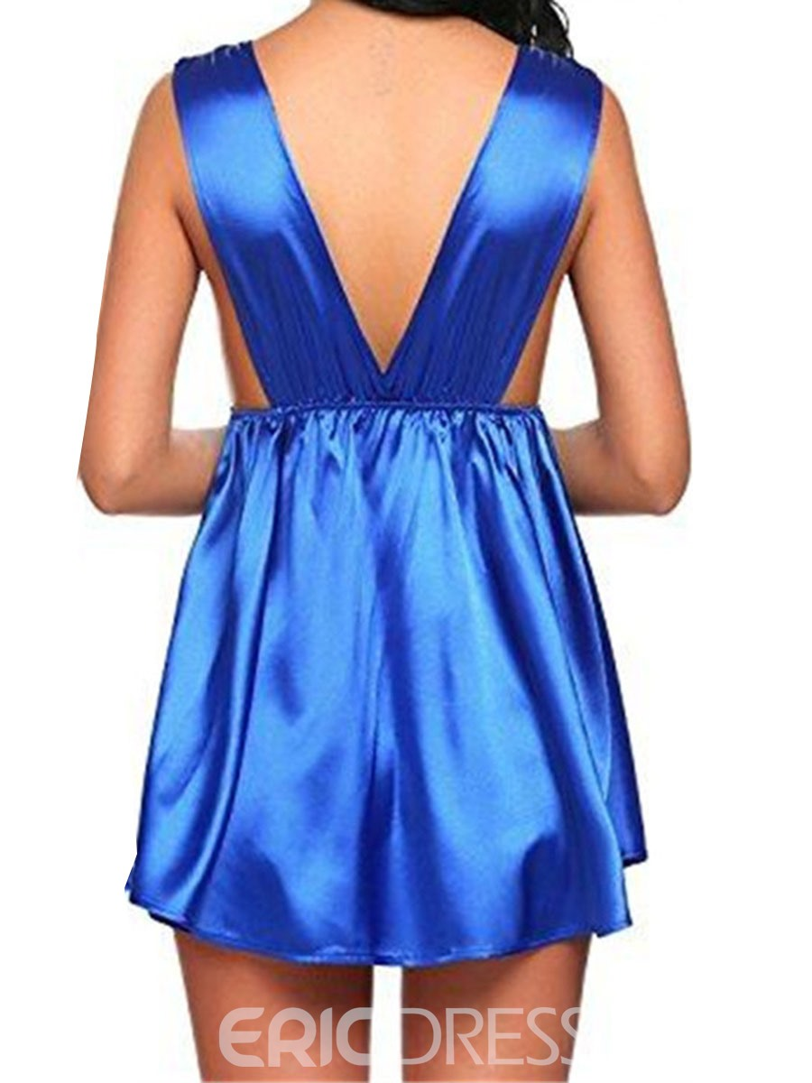 Ericdress V-Neck Above Knee Sleeveless Nightdress