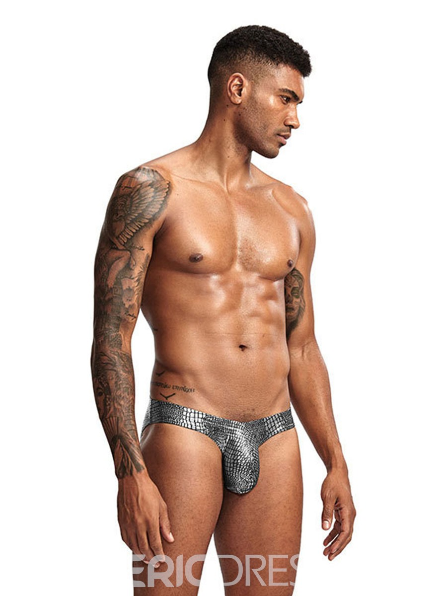 Ericdress Serpentine Print Low Waist Men's Brief