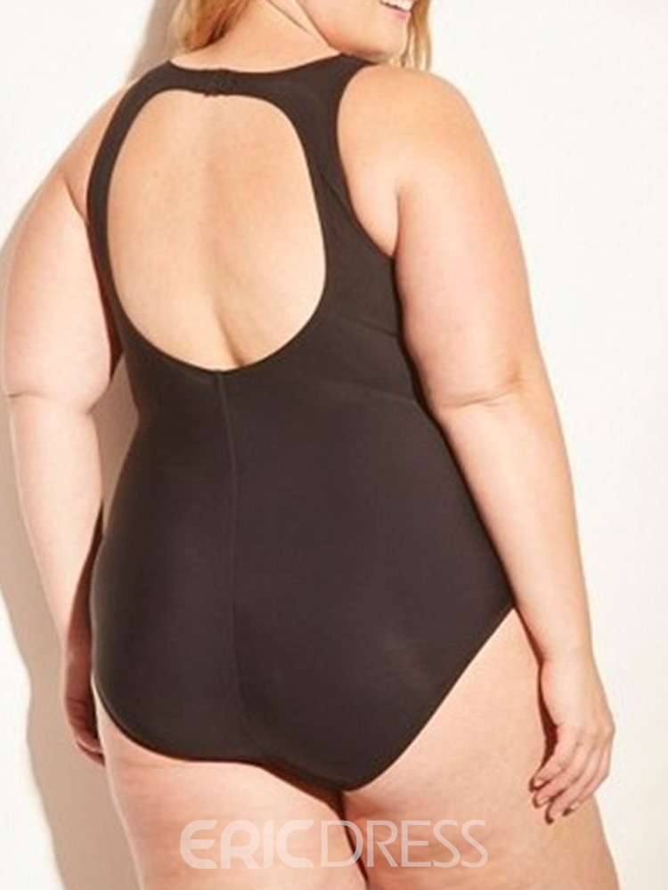 Ericdress Plus SIze Patchwork Mesh Stretchy Sexy Swimwear