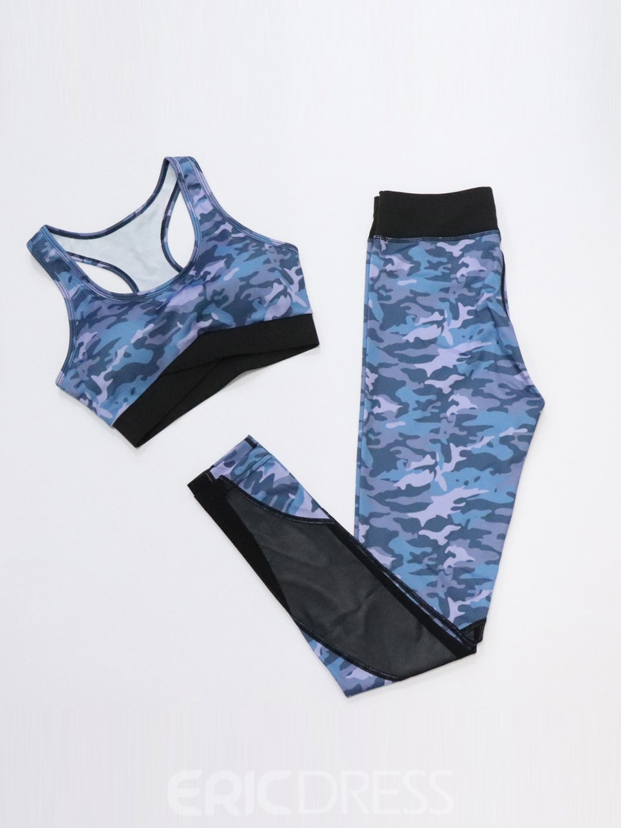 Ericdress Camouflage Patchwork Breathable Women's Sports Set