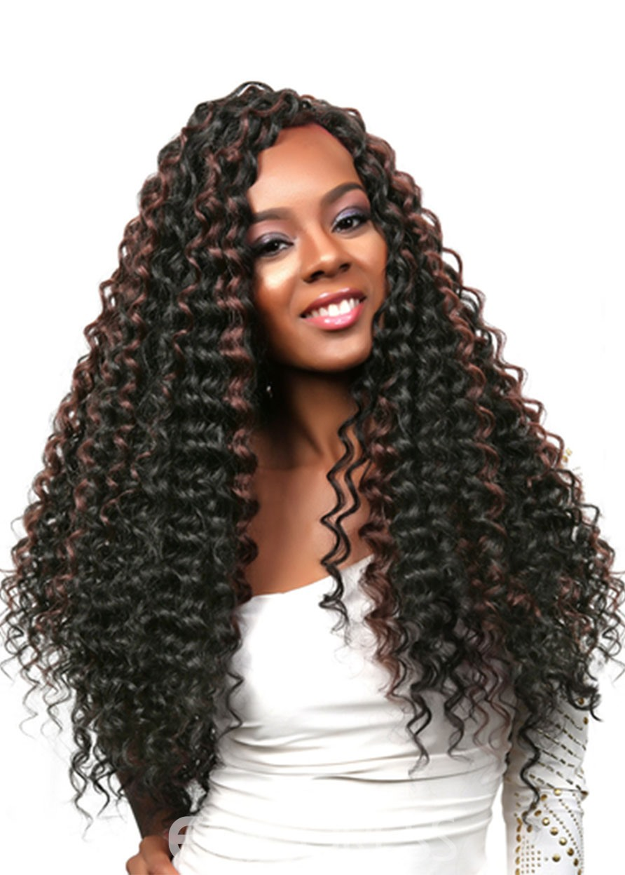 Ericdress Women's Long Curly Hairstyles 100% Human Hair Wigs High Density Lace Front Wigs 26Inches