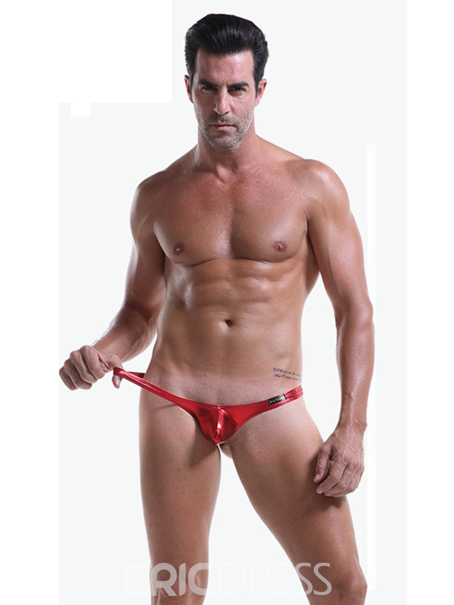 Ericdress Low Waist U Convex Sexy Leather Men's Thong
