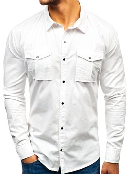 Ericdress Plain Pocket Casual Men's Single-Breasted Shirt