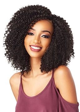 Ericdress Medium Hairstyles Women's Full Head Kinky Curly Synthetic Hair Capless Wigs 16Inches