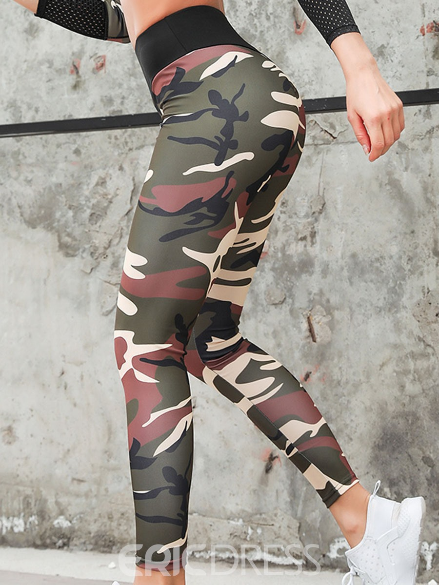 Ericdress Camouflage Print Breathable Women's Workout Set