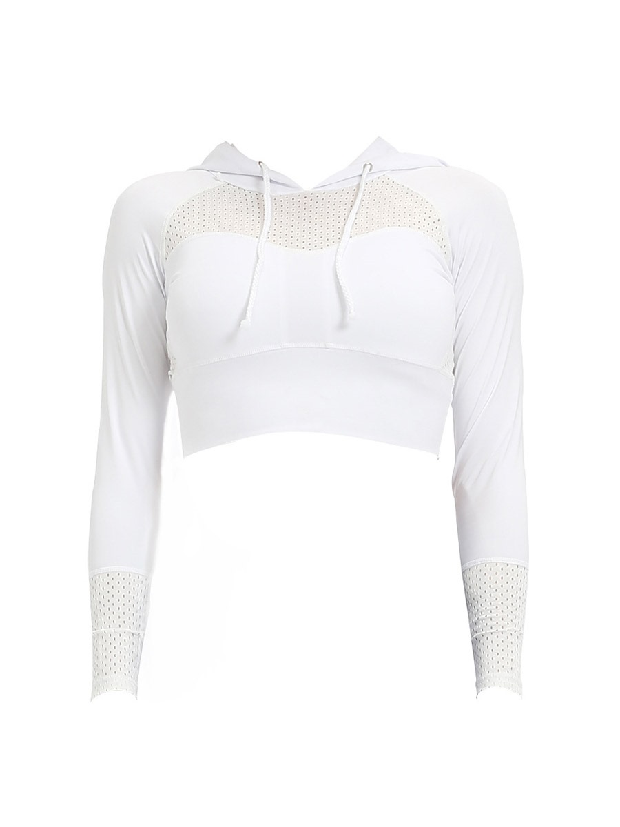 Ericdress Color Block Breathable Print Women's Sports Top